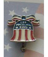 Walt Disney World Let Freedom Ring Pin Bell Red White &Blue Ribbon New - $14.89