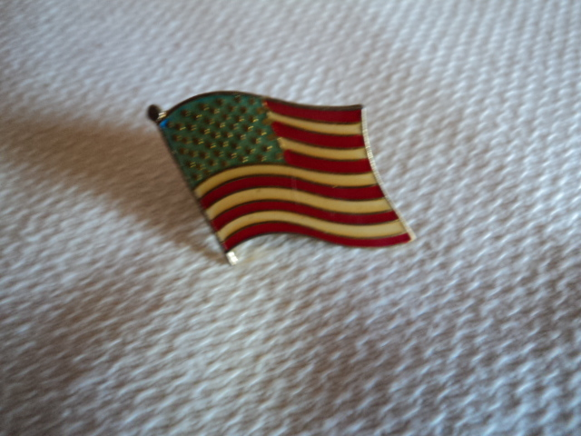 Vintage American Flag Lapel Pin