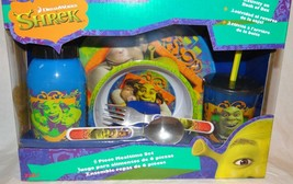 Shrek 6 Piece Mealtime Dinnerware Set,Plate,Bowl,Fork&Spoon,Sports Sip B... - $49.49