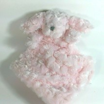 Blankets and Beyond Bunny Lovey Security Blanket Pink Swirls - $9.99