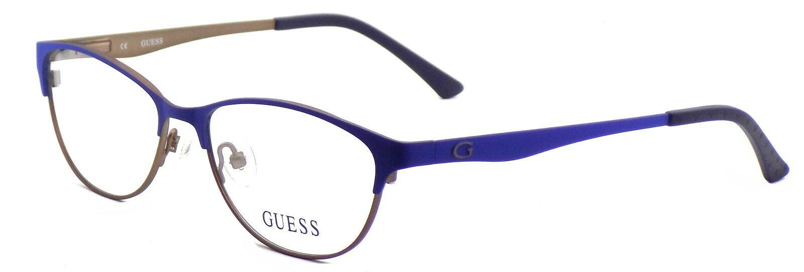 Primary image for GUESS GU2504 091 Women's Eyeglasses Frames 53-15-135 Matte Blue / Brown  + CASE