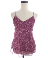 American Eagle Outfitters Purple Floral Print Cami S Top Size Small - $14.00
