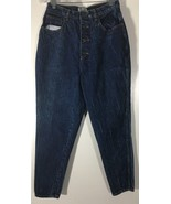 Women's Jeans Size 14 Button Front Blue Straight Leg Stefano Stone Wash - $24.74