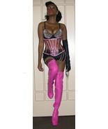 NEW clear plastic pvc vinyl pink fetish dominatrix corset size 20 xs xxs... - $197.01