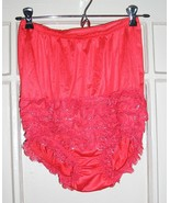 1950s sexy vintage red ruffle lace burlesque rhumba panties size small 6... - $24.49