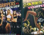 STRIPPERS VS ZOMBIES & Werewolves: Sexy Beauties vs Monsters & Beasts NEW 2 DVD