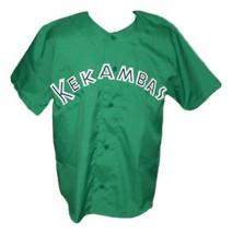 G-Baby #1 Kekambas Hard Ball Movie Baseball Jersey Button Down Green Any Size image 4