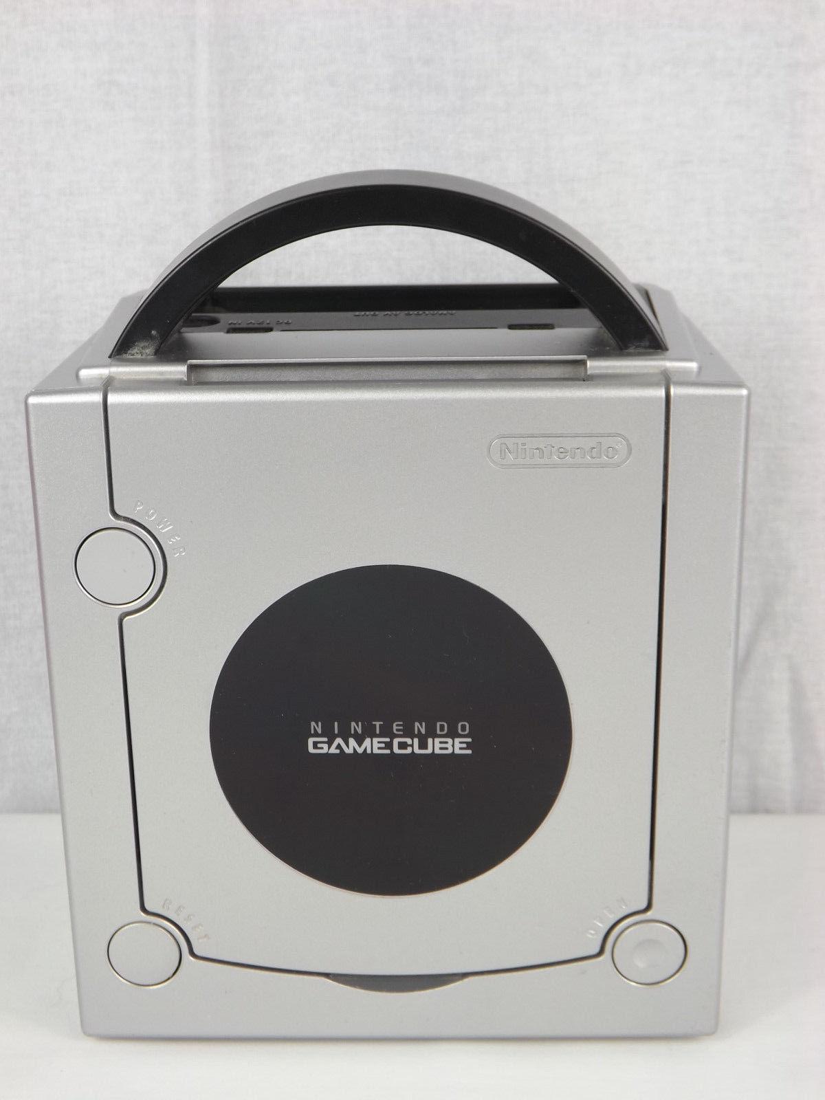 Nintendo GameCube Console Black + Mario Party 4 Game + 2 Controllers + Cords