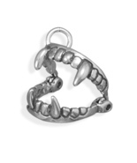 Movable Sterling Silver Vampire Fangs Halloween Charm - $21.99