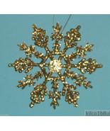 "12 piece GOLD 4"" Glittered Plastic Snowflake Ornaments - $7.00"
