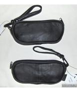 Genuine Leather Single Eyeglass Case - BLACK - $13.50