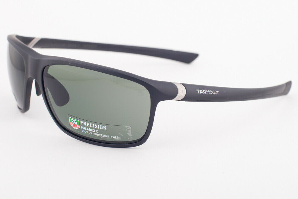 Primary image for Tag Heuer 27 Degree 6023 Matte Black / Green Polarized Sunglasses TH6023 801