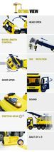 Yoowon Toys Crane Truck Car Vehicle Sound Effect Lights Heavy Equipment Play Toy image 3