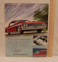 Vintage Magazine Ad for Oldsmobile Go Adventuring Starfire Style - $5.93