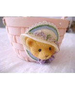 Cherished Teddies Spring Basket - Pink - $5.00