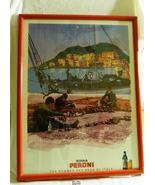"""Rare Peroni Beer (Italy) Signed & Numbered Framed Poster Art Work 25"""" x 19"""" - $104.98"""