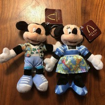 Disney Hawaii Mickey & Minnie Mouse Aulani Plush Keychain Mascot - $54.45