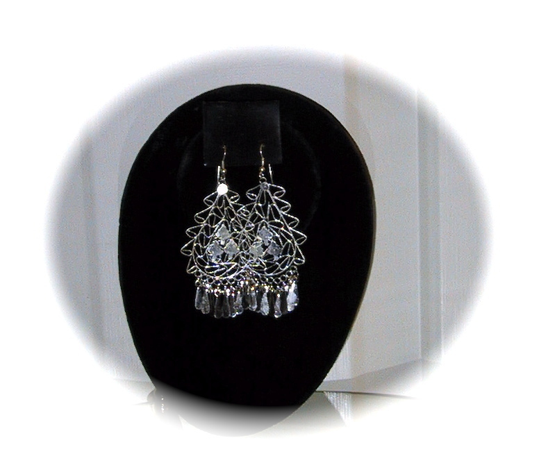 Silver Chandelier Earrings Earring Hollywood Trendy