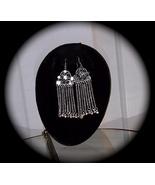 Silver Chandelier Earrings Earring Hollywood Trendy - $29.95