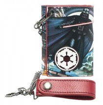 Star Wars Vader Metal Badge w/ Chain Wallet NEW! - $21.99