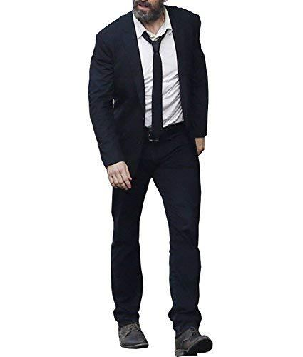 X-Men Logan Hugh Jackman Wolverine Slim Fit Black Suit