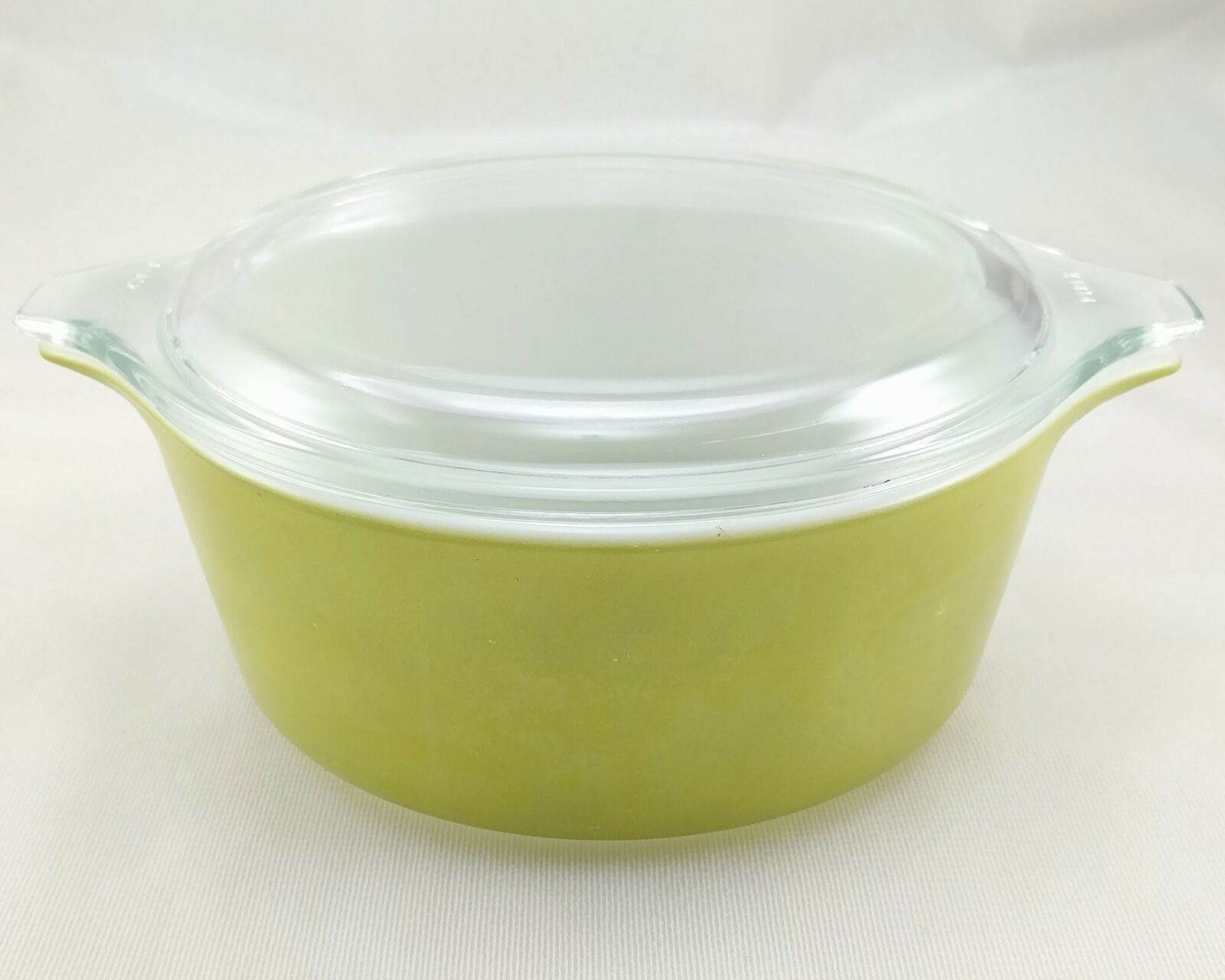Pyrex 472 Olive Green Vintage 1½ Pint Casserole w/ 470-C Lid ~ Made in the USA image 3