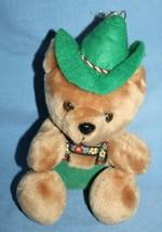"TIROLER Alpine TEDDY BEAR 8"" Austria Soft Toy Plush Green Overalls Hat S... - $19.23"