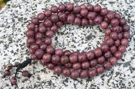Prayer Beads Purpleheart Wood 108 Bead Mala Prayer Beads - 8mm #42035