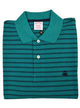 Brooks Brothers Mens Teal Green Striped Original Fit  Polo Shirt Small S 3206-4 - $55.07