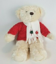 "Hallmark Jingle Bear 15""Teddy Plush Stuffed Animal Musical Jingle Bells Winter - $9.85"