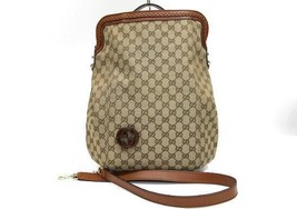 AUTHENTIC GUCCI GG Canvas 2Way Tote Bag Beige ×... - $640.00