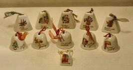 Vintage Japan - Lot of 11 Ceramic Christmas Bells - $24.75