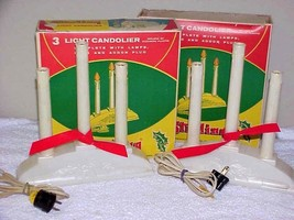 2 Vintage 3-Light Candoliers IOB Candle Lights by Sterling IOB - $14.00