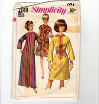 1967 Simplicity Groovy Boho 1-Pc Tunic Dress Sewing Pattern 2 Lengths Ca... - $8.42