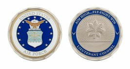 "USAF AIR FORCE LIEUTENANT  COLONEL 1.75""  CHALLENGE COIN - $18.04"