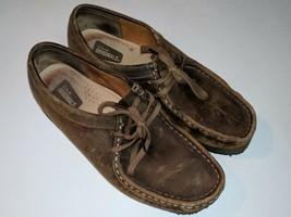 Clarks Originals Brown Suede Lace Up Shoes Crepe Soles Women's Size 7.5 M / 38 - $31.67