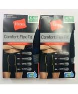 Lot Of 6 Mesh  Boxer Briefs Hanes Mens Comfort Flex Fit Breathable TagFree B56 - $30.40