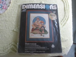 1981 Dimensions CATCHING THE BIG ONE Rockwell Crewel Embroidery SEALED K... - $14.85