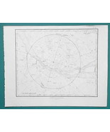 ASTRONOMY Stars Constellations Northern Heavens - 1828 Antique Print - $30.60