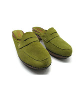 Kors Michael Kors Womens Green Suede Studded Penny Loafers Mules Size US... - $25.58