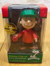 PEANUTS CHARLIE BROWN CHRISTMAS CLIP ON ORNAMENT NEW - $14.85