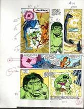 Original 1985 Incredible Hulk 309 Marvel color guide art page:Sal Buscema/1980's - $63.35