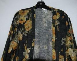 ZigZag Stripe Brand Black Floral Peek A Boo Button Womens Cardigan Size XL image 2