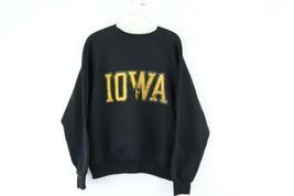 Vintage 80s Mens Small University of Iowa Distressed Crewneck Sweatshirt... - $34.60