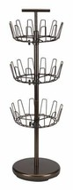 Spinning Shoe Tree Holder 18 Pair 3 Tier Footwear Tower Adjustable Organ... - $68.63