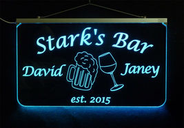 Personalized LED Man Cave Bar Sign- Garage Sign, Gift for Dad -Beer mugs image 9