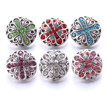 Boom Life 2019 New 10pcs/lot Cross Styles Metal Charms 18mm Snap Button Jewelry  - $16.03