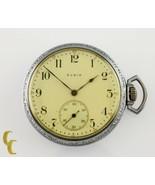Nickel Elgin Antique Open Face Pocket Watch Grade 302 Size 12 15 Jewel - $148.49
