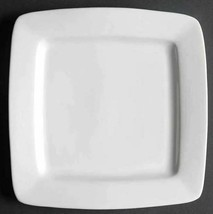 "Square Salad Plate White Elements Square by GIBSON DESIGNS Set of 2 Width 7 1/2"" - $12.12"