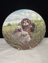 Short-Eared Owl 8th Issue in Under Mother's Wing by Knowles Collector Plate - $9.89